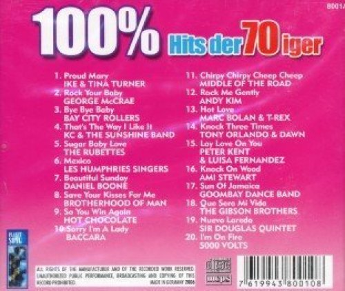 Bild 2: 100% Hits der 70iger, Ike & Tina Turner, George Mc Crae, Bay City Rollers, KC & the Sunshine Band, Rubettes..