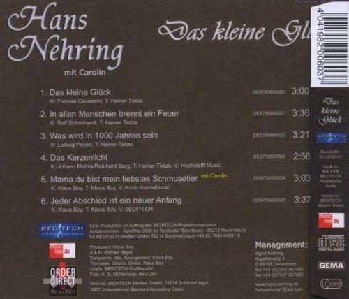 Bild 2: Hans Nehring, Das kleine Glück (e.p., 6 tracks, mit Carolin)