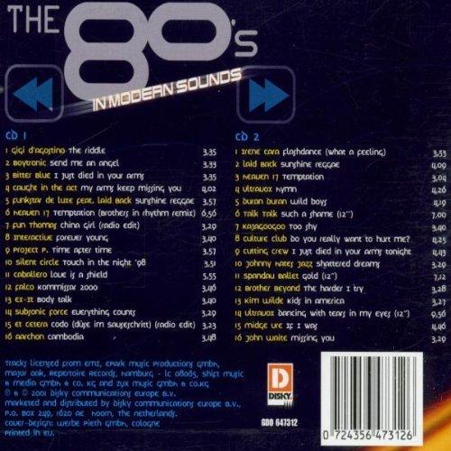 Bild 2: 80's in Modern Sounds (2001), Gigi d'Agostino, Boytronic, Bitter Blue, CitA, Funkstar de Luxe..