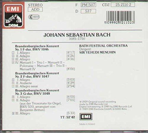Bild 2: Bach, Brandenburgische Konzerte Nr. 1-3 (EMI, 1959/89) Bath Festival Orch./Menuhin