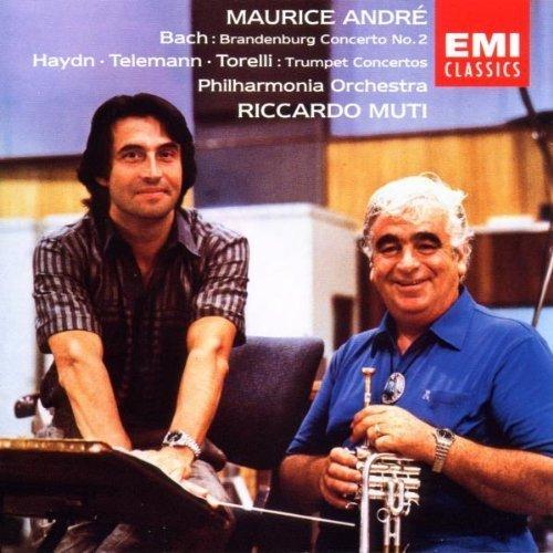 Bild 1: Bach, Brandenburgisches Konzert Nr. 2, BWV 1047/J. Haydn, Telemann & Torelli: Trumpet Concertos (EMI) (Maurice André, Philharmonia Orch./Muti)