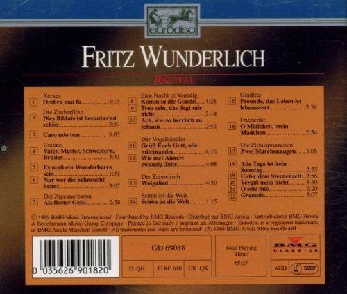 Bild 2: Fritz Wunderlich, Recital (22 tracks)