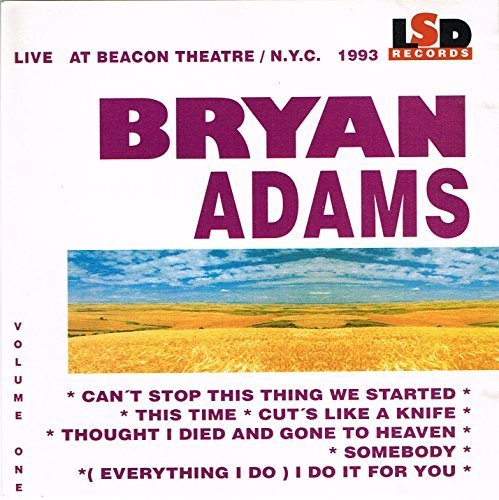Bild 1: Bryan Adams, Vol. 1 (live, at Beacon Theatre/N.Y.C., 1993)