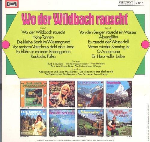 Bild 2: Wo der Wildbach rauscht (Europa), Rudi Schuricke, Wolfgang Meininger, Fred Heiders,...