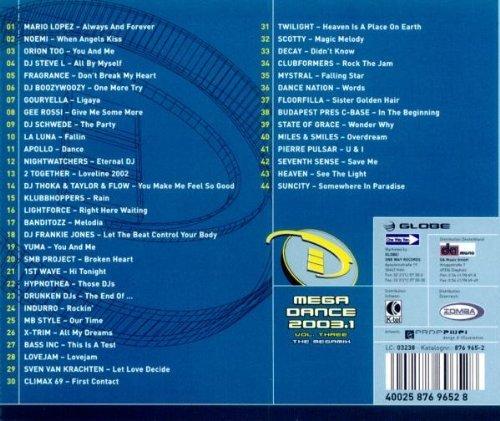 Bild 2: Megadance 2003.1-Vol. 3 Megamix, Mario Lopez, Noemi, Orion Too, DJ Steve L, Fragrance, DJ Boozywoozy..