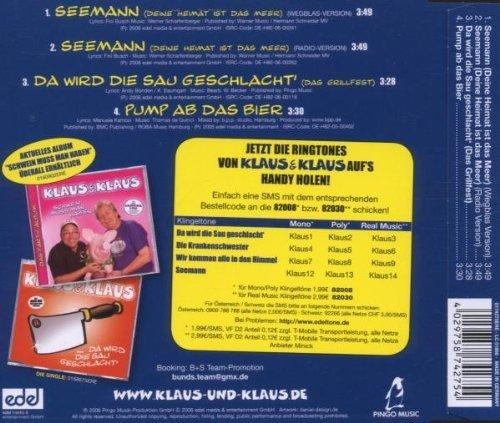 Bild 2: Klaus & Klaus, Seemann (Deine Heimat ist das Meer; 4 tracks)