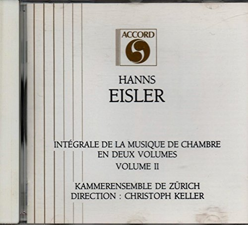 Bild 1: Hanns Eisler, Musique dechambre vol. 2