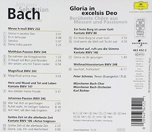 Bild 2: Bach, Gloria in excelsis deo-Berühmte CHöre aus Messen und Passionen (DG, 1961-80) Münchener Bach-Chor & Orch./Richter
