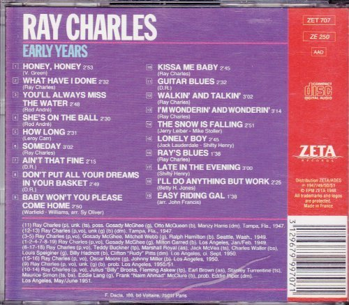 Bild 1: Ray Charles, Early years (19 tracks)