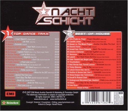 Bild 2: Nachtschicht 24 (2007), Alex M., Scooter, Cascada, Eric Prydz vs. Floyd, Lazard..