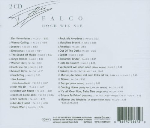 Bild 2: Falco, Hoch wie nie (2007)