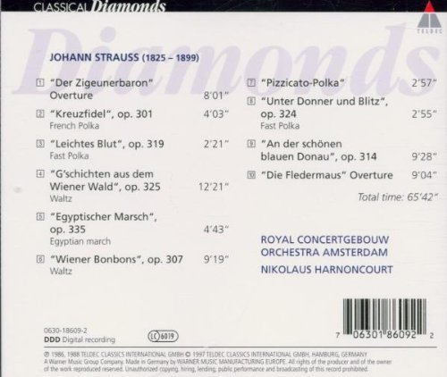 Bild 2: Strauss, Johann (Sohn), An der schönen blauen Donau (Teldec, 1986/88/97) (Royal Concertgebouw Orch. Amsterdam/Harnoncourt)