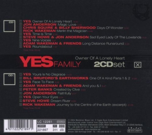 Bild 2: Yes, Family-Owner of a lonely heart (compilation, 2004, v.a.: Jon Anderson, Chris Squire..)