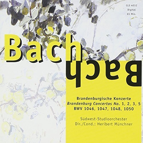 Bild 1: Bach, Brandenburgische Konzerte Nr. 1, 2, 3, 5 (BWV 1046-1048, 1050; Zyx) (Südwest-Studioorch./Münchner)