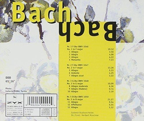 Bild 2: Bach, Brandenburgische Konzerte Nr. 1, 2, 3, 5 (BWV 1046-1048, 1050; Zyx) (Südwest-Studioorch./Münchner)
