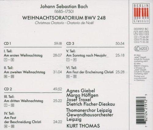 Bild 2: Bach, Weihnachtsoratorium, BWV 248 (Berlin Classics, 1962) Gewandorch. Leipzig/Thomas, Thomanerchor Leipzig, Dietrich Fischer-Dieskau, Thomanerchor Leipzig..
