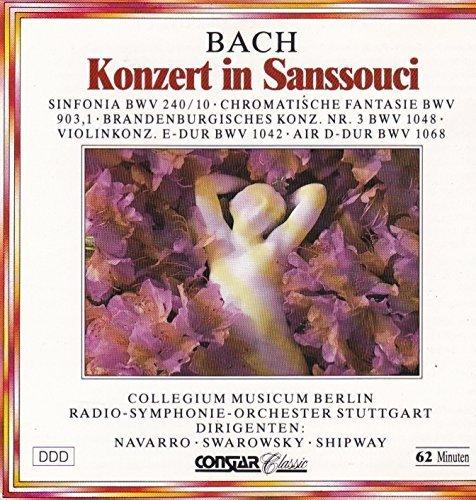 Bild 1: Bach, Konzert in Sanssouci (Constar, 1988) (Wolfgang Basch, RSO Stuttgart/Navarro, Christiane Jaccottet..)