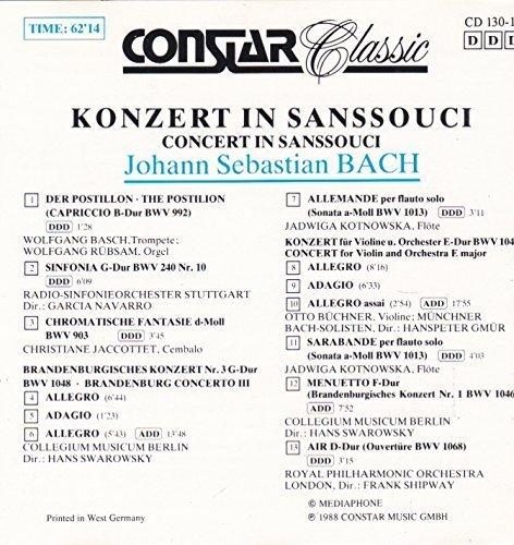 Bild 2: Bach, Konzert in Sanssouci (Constar, 1988) (Wolfgang Basch, RSO Stuttgart/Navarro, Christiane Jaccottet..)