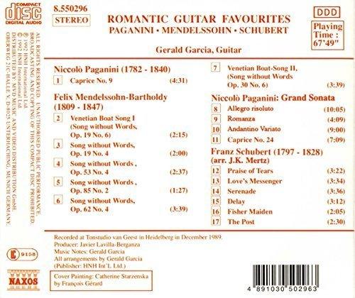 Bild 2: Gerald Garcia, Romantic guitar favourites (1989/92, Naxos)