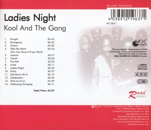 Bild 2: Kool & the Gang, Ladies' night (compilation, 14 tracks, 2000, Road Classics)