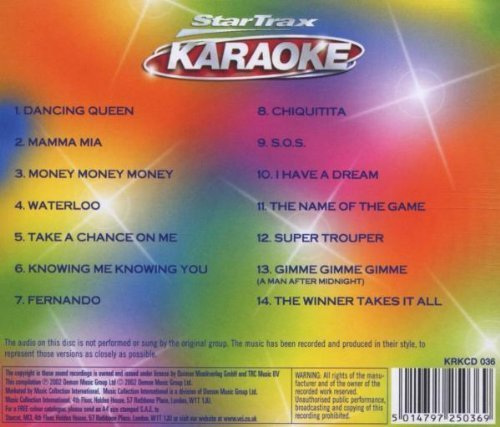 Bild 2: Abba, Karaoke-The songs of (2002, StarTrax)