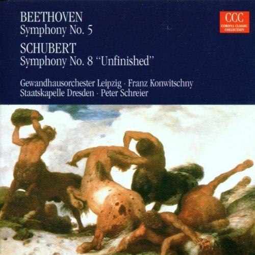 Bild 1: Beethoven, Sinfonie Nr. 5, op. 67/Schubert: Sinfonie Nr. 8, D. 759 'Unvollendete' (CCC/Edel, 1960/77/95) (Gewandhausorch. Leipzig/Konwitschny, Staatskapelle Dresden/Schreier)
