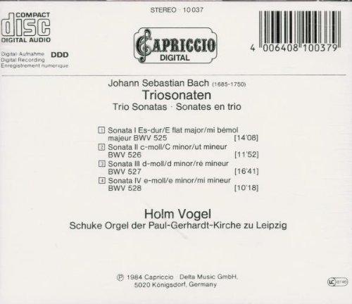 Bild 2: Bach, Triosonaten (BWV 525-528, Capriccio, 1984) (Holm Vogel, Schuke-Orgel)