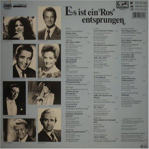 Image 2: Es ist ein Ros' entsprungen, Erika Köth, Chantal Mathieu, Julia Migenes, Rudolf Schock, Fritz Wunderlich...