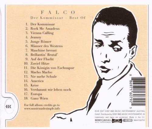 Bild 2: Falco, Der Kommissar-Best of (18 tracks, 2007, slidecase)