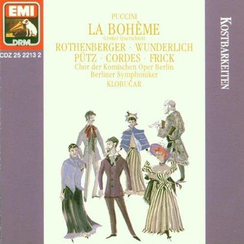 Bild 1: Puccini, La bohème-Großer Querschnitt deutsch (EMI, 1961/90) (Berliner Symphoniker/Klobucar, Fritz Wunderlich, Anneliese Rothenberger..)