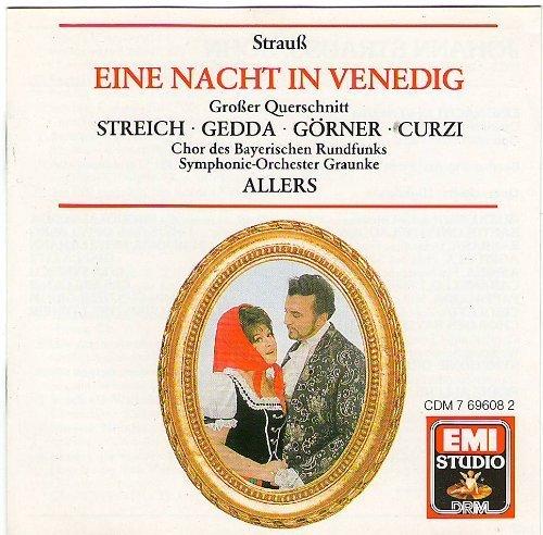 Bild 1: Strauss, Johann (Sohn), Eine Nacht in Venedig-Großer Querschnitt (EMI, 1968) (SO Graunke/Allers, Nicolai Gedda, Rita Streich..)