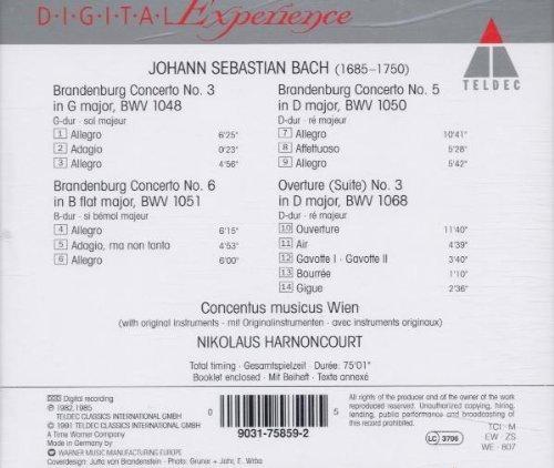 Bild 2: Bach, Brandenburgische Konzerte Nr. 3, 5, 6 (Teldec, 1982) Concentus musicus Wien/Harnoncourt