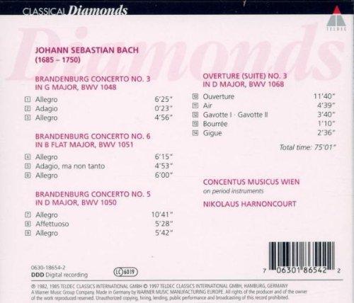 Bild 4: Bach, Brandenburgische Konzerte Nr. 3, 5, 6 (Teldec, 1982) Concentus musicus Wien/Harnoncourt