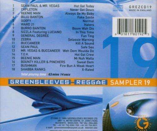 Bild 2: Greensleeves Sampler (1999, UK), 19:Sean Paul & Mr. Vegas, Capleton, Beenie Man, Buju Banton, Ward 21..