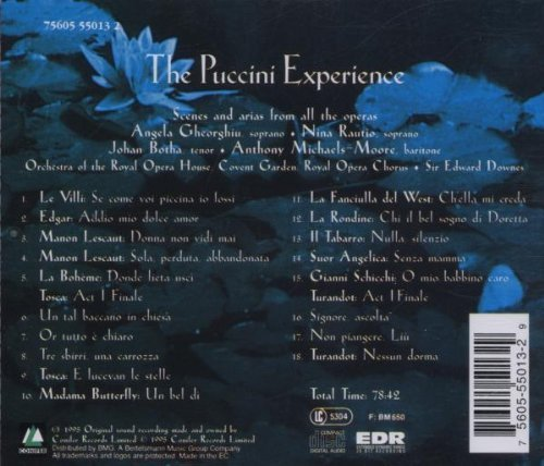 Bild 2: Puccini, Experience (1995) (Orch. of the Royal Opera House, Covent Garden/Downes, Angela Gheorghiu..)