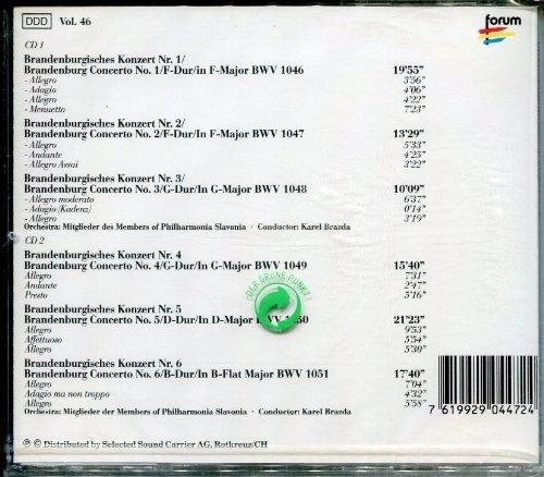 Bild 1: Bach, Brandenburgische Konzerte Nr. 1-6 (Forum) (Philharmonia Slavonia/Brazda)