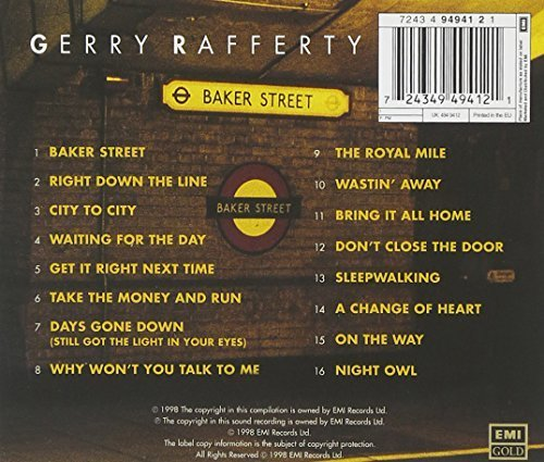 Bild 2: Gerry Rafferty, Baker street (compilation, 16 tracks, 1977-82/98, EMI Gold)