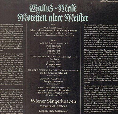 Bild 2: Wiener Sängerknaben, Gallus-Messe-Motetten alter Meister (BASF, no cover)
