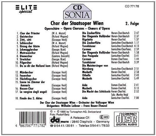 Bild 2: Chor der Staatsoper Wien, Opernchöre 2 (Elite, 1990)