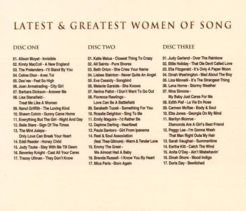 Bild 2: Latest & greatest Women of Song (2010, USM), Alison Moyet, Kirtsy MacColl, Céline Dion, Lisa Stansfield, Liza Minnelli..