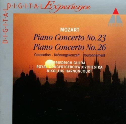 Bild 1: Mozart, Klavierkonzert Nr. 23, KV 488/Nr. 26, KV 537 'Krönungskonzert' (Teldec, 1984) Royal Concertgebouw Orch. Amsterdam/Harnoncourt, Friedrich Gulda