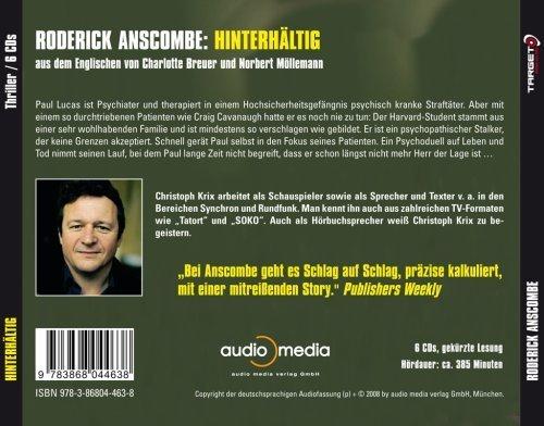 Фото 2: Roderick Anscombe, Hinterhältig (6 CDs, 2008, Leser: Christoph Krix)