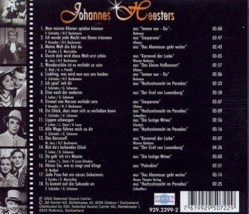 Bild 2: Johannes Heesters, Grandseigneur mit Charme, Frack & Esprit (18 tracks, 2000)