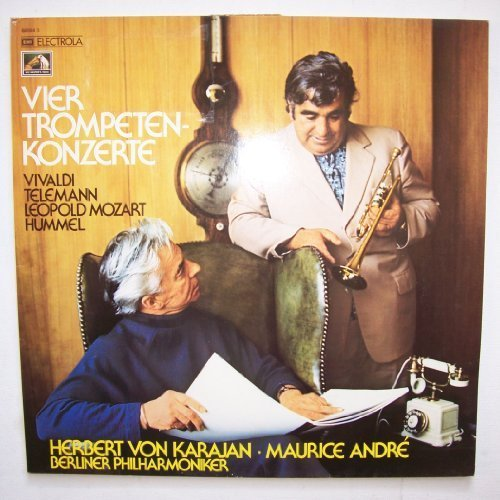 Bild 1: Maurice André, Vier Trompetenkonzerte (Vivaldi, Mozart, Hummel, Telemann, EMI) (Berliner Philharmoniker/Karajan)