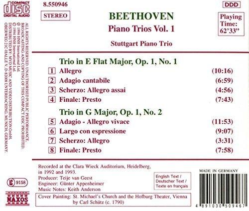 Bild 2: Beethoven, Piano trios 1: op. 1, Nr. 1/Nr. 2 (Naxos, 1994) (Stuttgart Piano Trio)