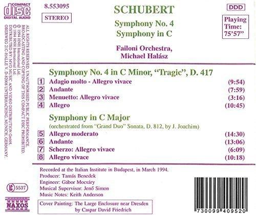 Bild 2: Schubert, Sinfonie Nr. 4, D 417 'Tragische'/Sinfonie in c (Naxos, 1994) (Failoni Orch./Halász)