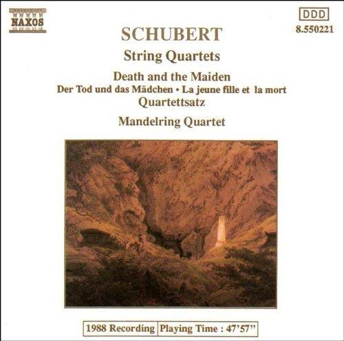 Bild 1: Schubert, Streichquartett Nr. 14, D. 810 'Der Tod und das Mädchen'/Nr. 12, D. 703 'Quartettsatz' (Naxos, 1989) (Mandelring Quartet)