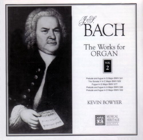 Bild 1: Bach, Works for organ 02: BWV 529, 532, 536, 541, 577.. (MHS, 1994, US) Kevin Bowyer