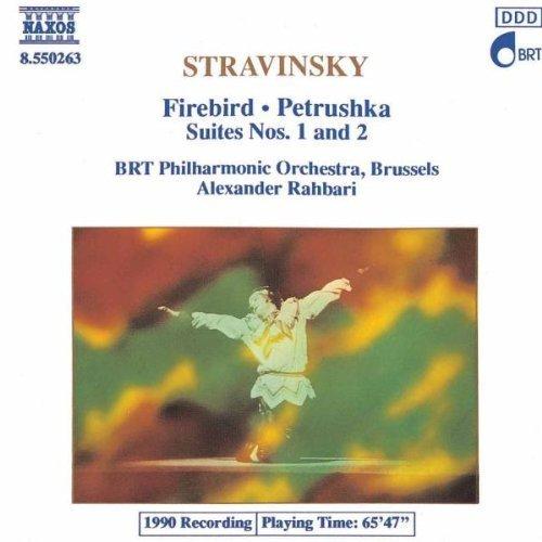 Bild 1: Strawinsky, Firebird/Petrushka-Suites nos. 1&2 (Naxos, 1990) BRT PO, Brussels/Rahbari