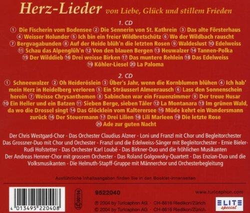 Bild 2: Herzlieder (2004), Chris Westgard-Chor & Orch. Claudius Alzner, Ernie Bieler, Rudi Hofstetter, Birkner-Duo..